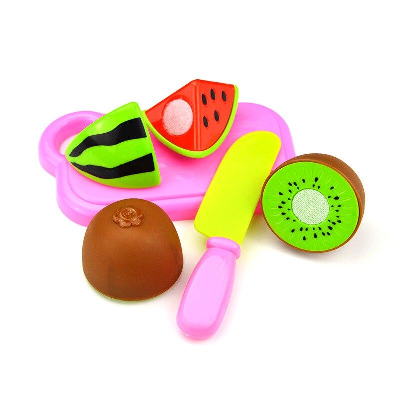 4Pcs Plastic Fruit Vegetables Cutting Toys Set Children Kids Early Development Educational Toy YH-17