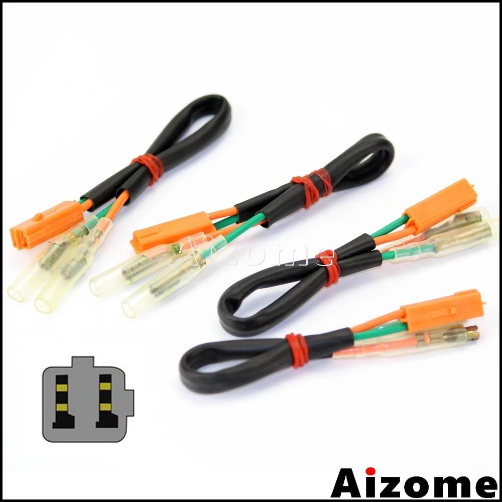motorcycle turn signals wiring harness connectors for kawasaki ex250 ninja  250r zx 6r zx 9rzx 10r zx 12r indicators wire plugs covers & ornamental  mouldings  - aliexpress  aliexpress
