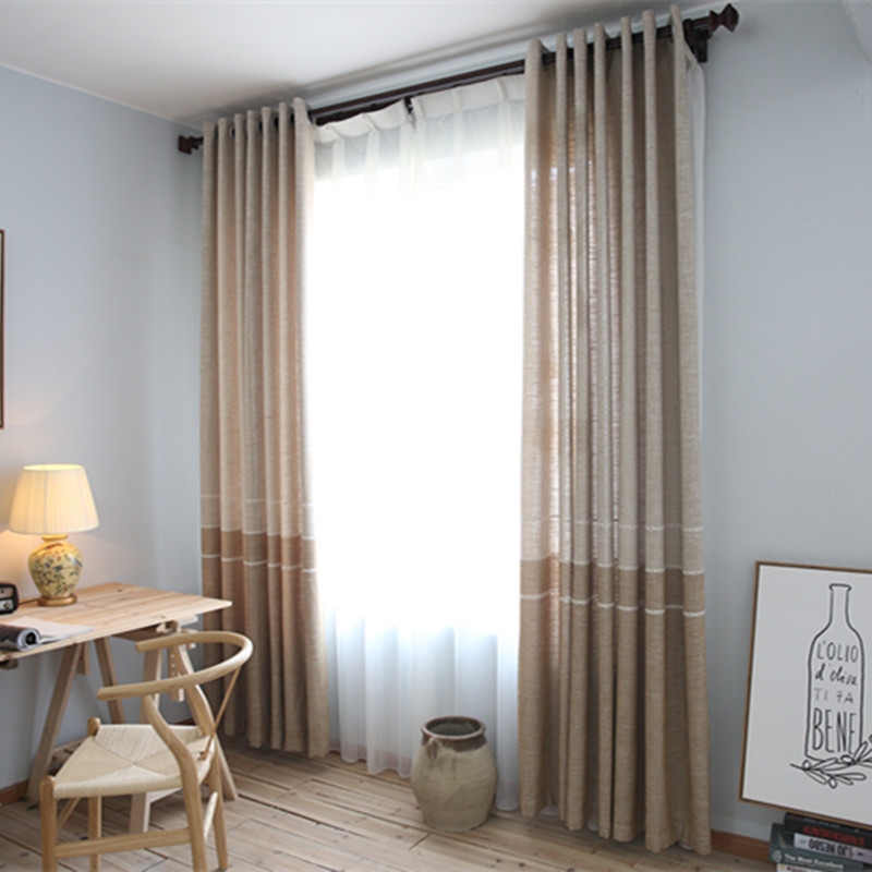Minimalist Chenille Cotton Warp Knitting Lace Curtain Half