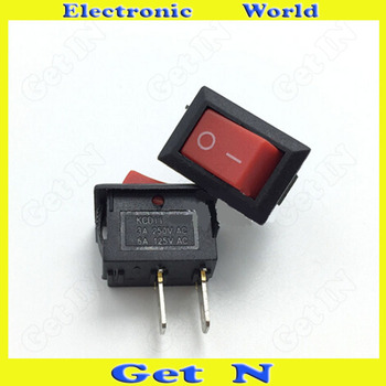 200pcs   2File Power Switches Button 10*15mm Micro Rocker Switches for Electronic Product Red