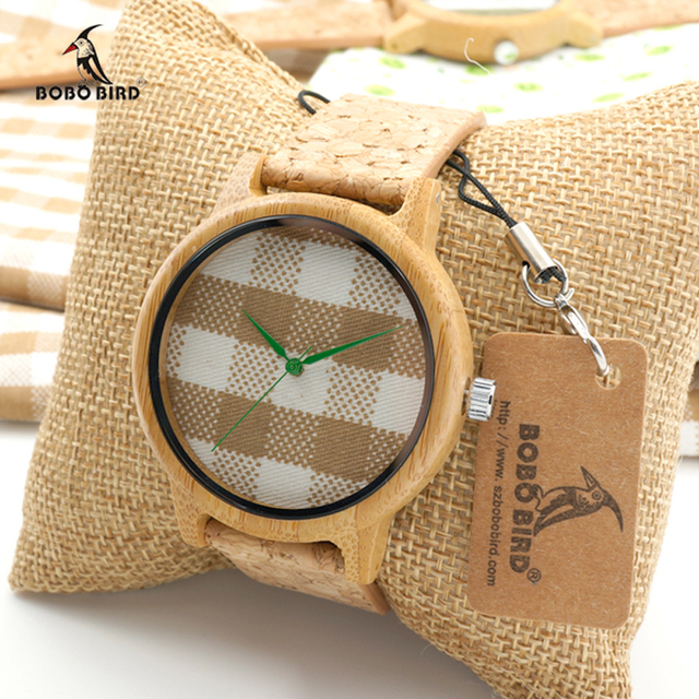 Luxury BOBO BIRD Brand Bamboo Watches Women Quartz Wristwatches Bamboo watches Lady relojes mujer C-A28