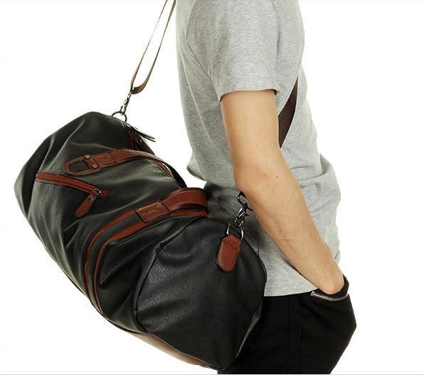 New 2015 Designer Leather Gym Bag Sports BagsStreet Style Travel Waterproof For Women Men Brand Shoulder 218 On Aliexpress
