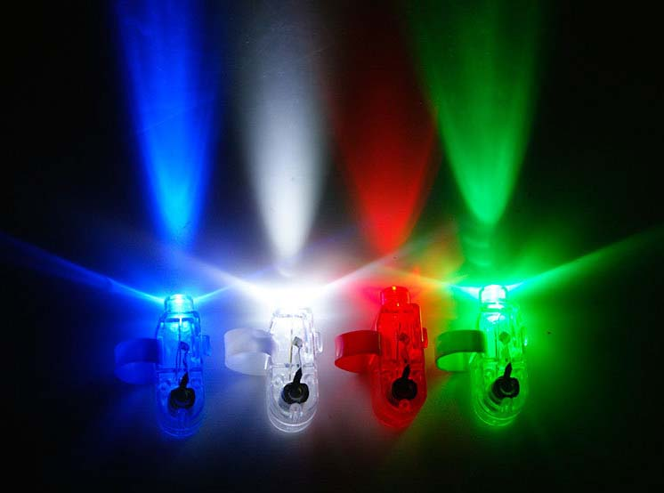 LED Finger Beams Party Nightclub Glow Light Ring Torch Fun Party Decoration High Quality 1000pcs/lot