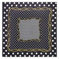 60*60 см высокое качество Twill Шелковый Волновой точки цепи геометрия Печати шарф женщин bufanda magica écharpe bijou solde A074