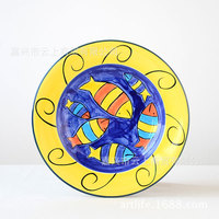 Hand Painted Ceramic Tableware Snack Plate 8 5 Inches 0 Pasta Dish Food Dish The Household