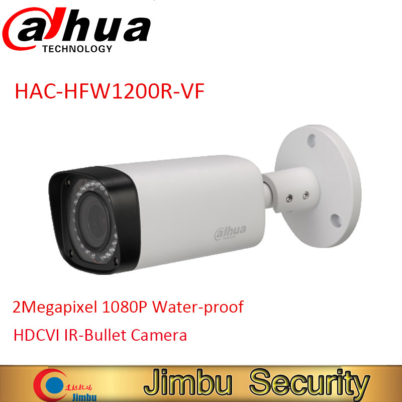 DAHUA HDCVI Bullet Camera HAC-HFW1200R-VF 2MP CMOS 1080P IR 30M IP67 2.7~12mm vari-focal lens security camera HFW1200R-VF dahua 2mp hdcvi camera cctv 1080p water proof ip67 hac hfw1200s bullet camera lens 3 6mm ir leds length 30m mini security camera