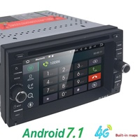 Universal 2 din Android 7.1 Car DVD player GPS+Wifi+Bluetooth+Radio+2GB CPU+DDR3+Capacitive Touch Screen+4G+car pc+audio SWC MAP