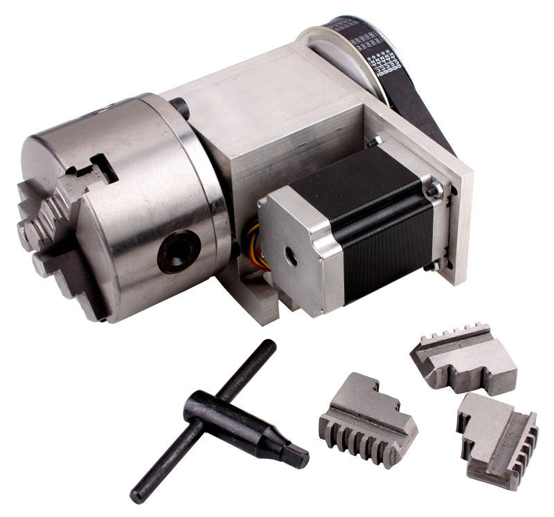 Buy cnc lathe machine tool k11 100 3 jaw for Best router motor for cnc