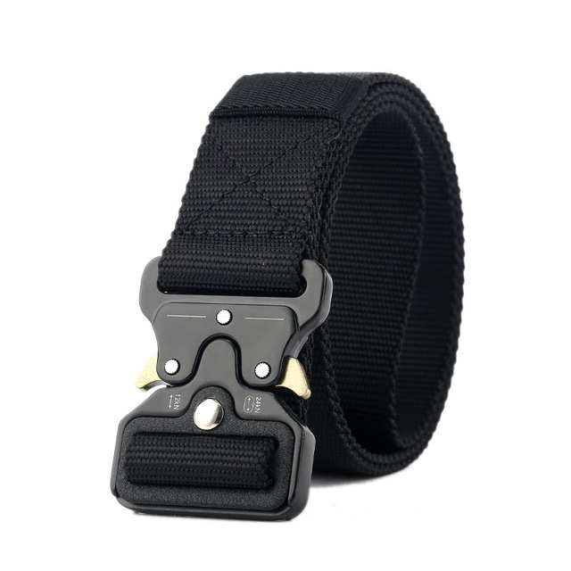 Tactical Belts Metal Buckle Adjustable Nylon Military Waist Belt with Heavy Duty Training Waist Belt Hunting Accessories