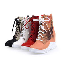 NAYIDUYUN  New Womens High Top Wedges Fashion Party Pumps Round Toe Heels Ankle Boots Casual Punk Platform Oxfords Shoes