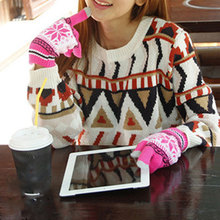 цены Comfortable Knitted Gloves for Women/Men Winter Warm Touchable screen gloves for Mobile Phone Pad Tablet