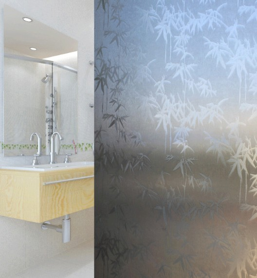 60*300cm PVC self adhesive Etched opaque decorative frosted privacy window film glass films ...