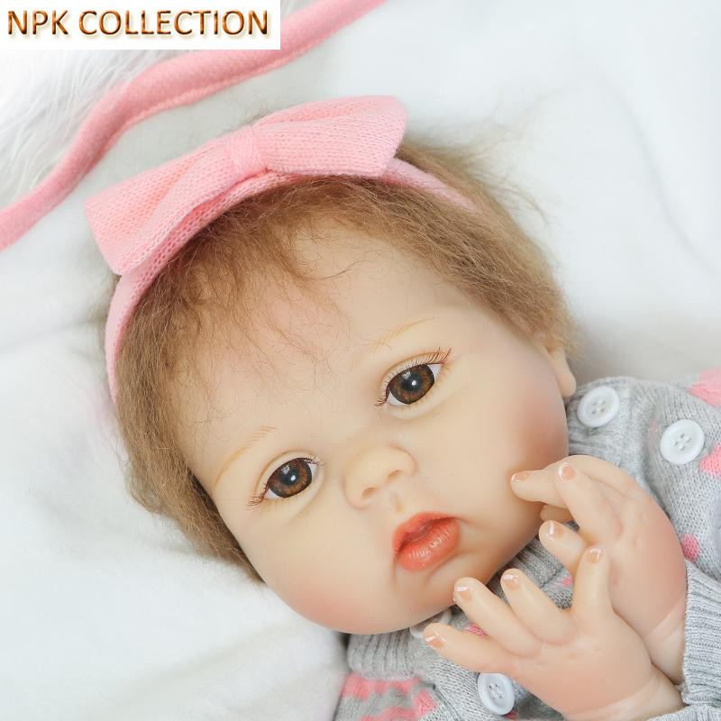 NPK COLLECTION 50 CM Silicone Reborn Dolls Baby Alive Soft Toys for Children,Handmade Cotton Body Reborn Babies Boneca Brinquedo bigbang alive 2012 making collection repackage release date 2013 5 22 kpop
