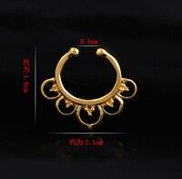 2015 ograniczone w czasie Zatyczki Do Uszu 24 Sztuk/partia Fałszywy Przegroda Dla Clicker Nose pierścień Stud Hoop Hollow Dla Piercing Wieszak Klip Na Prezenty Hot