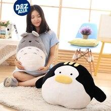 Cartoon soft toys totoro plush cotton plush toys sleeping lying soft pillow car cushion birthday gift