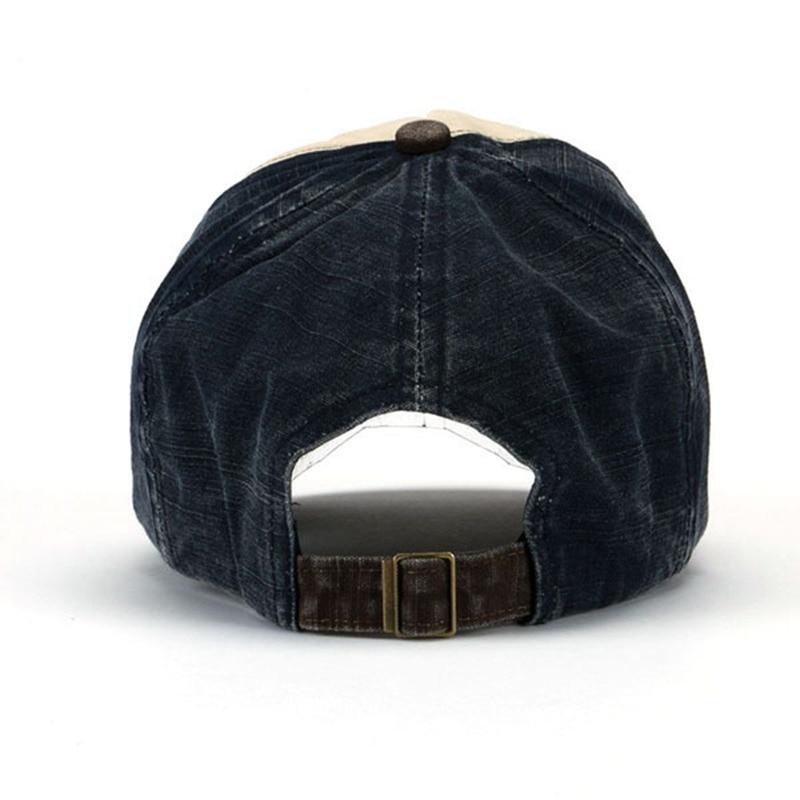Yienws Vintage Jeans Kişilər üçün Əyri Qollu Brim Trucker - Geyim aksesuarları - Fotoqrafiya 5