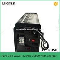 Mkp3000 241b c Чистая синусоида солнечный инвертор 3000 Вт 24 В DC питания переменного тока инвертор, 3kw дань инвертор с зарядным устройством Сделано в