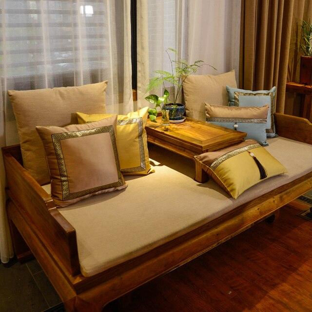Freeshipping Pillow Back Shape Stripe Embroidery Wedding Room Sofa Chair Bedding Hotel Decorative Cushion Pillowslip