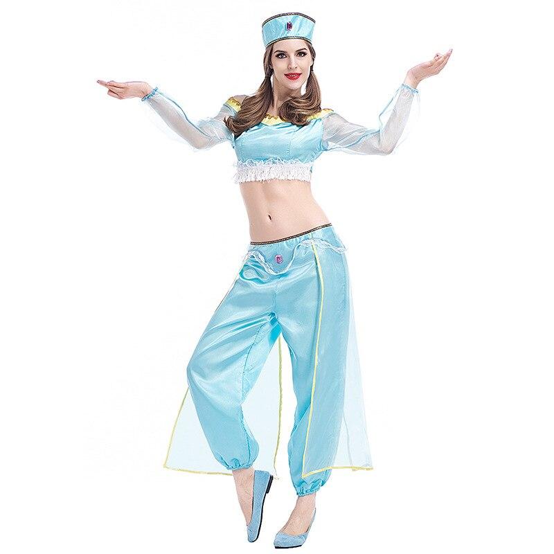 free shipping arabian princess jasmine costume adult aladdin 39 s jasmine cosplay halloween. Black Bedroom Furniture Sets. Home Design Ideas