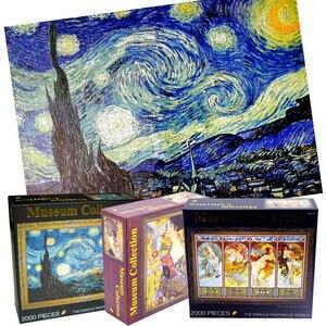 Image 5 - 14 סוג למבוגרים 2000 חתיכות העולם שמן ציור חידות קשה מפורסם ליל כוכבים עבה נייר פאזל מתנת חג המולד עבור ילד
