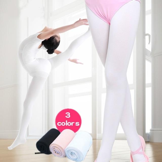 98654272d26b8 90D Girls Women Footed Ballet Tights Panty Hose Microfiber Velvet White  Black Nude Ballet Dance Stockings Pantyhose With Gusset