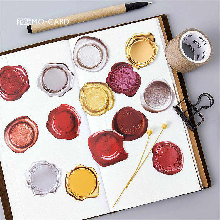 46 sztuk/paczka Paint Seal koperta papierowa europejski styl wiadomość karty list stacjonarne do przechowywania papieru naklejki prezent