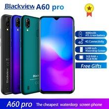 Blackview A60 Pro Smartphone Android 9.0 4G telefon komórkowy MTK6761 czterordzeniowy ekran 6.088 cala Waterdrop 3GB RAM 16GB ROM identyfikator dotykowy