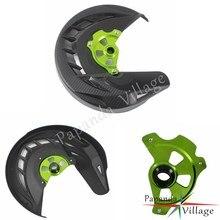 Черная защитная накладка на передний тормозной диск Papanda для мотоцикла Kawasaki KX125 250 06-08 250F 450F 06-18 450R 08-09