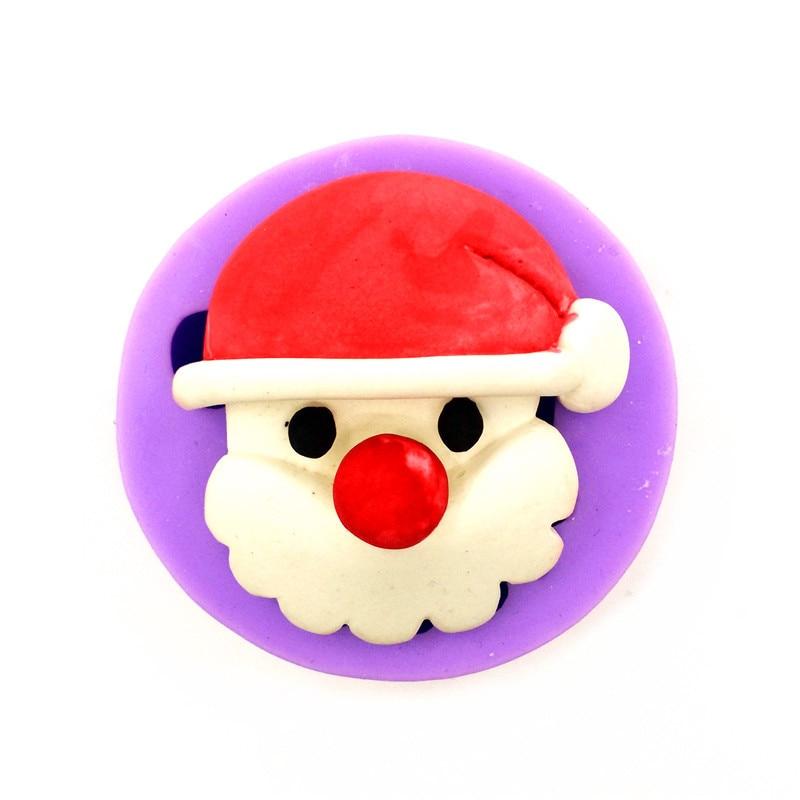사랑스러운 산타 클로스 실리콘 몰드, 크리스마스 선물, 케이크 장식 도구, 주방 액세서리 LH02
