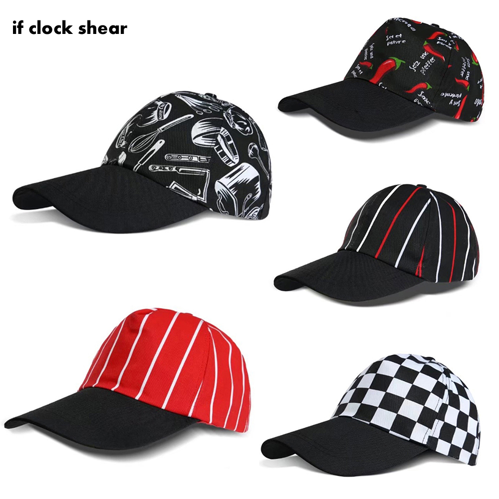 Mesh Breathable Chef Waiter Hats Food Service Hotel Restaurant Canteen Bakery Kitchen Work Wear Master Cook Fashion Baseball Cap