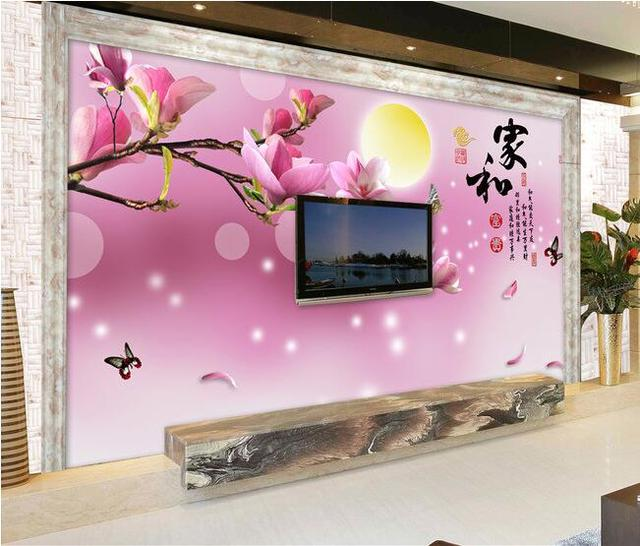 3d wallpaper custom mural non-woven wall stickers House and riches and  honour magnolia TV