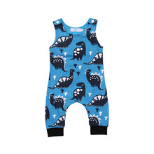 Dinosaur Newborn Baby Boy Romper Jumpsuit Playsuit Outfit Clothes 0-18M(China)