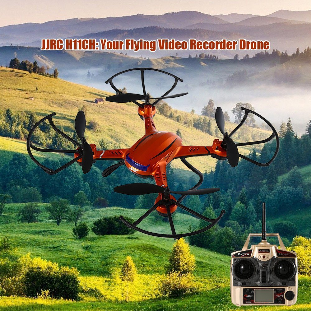 JJRC H12CH 4CH 2.4G RTF 6 Axis Gyro Air Press Altitude Hold with LCD HD Camera Enjoy Outdoor Indoor RC Quadcopter Christmas Gift jjrc h12c 2 4g 4ch 6 axis gyro cf mode one press return rtf rc quadcopter professional drones with 1080p 5 0mp camera hd