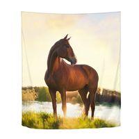 Cool Animal Horse 3D Printing Boho Wall Hanging Bohemian Psychedelic Mandala Tapestry Beach Towel Tent Yoga Blanket Home Decor