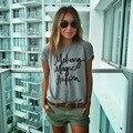 Mujeres camiseta de Verano Nueva hacer que la magia suceda Camisetas impresas para las mujeres tee shirt femme poleras camisetas mujer camisetas NV19-Y