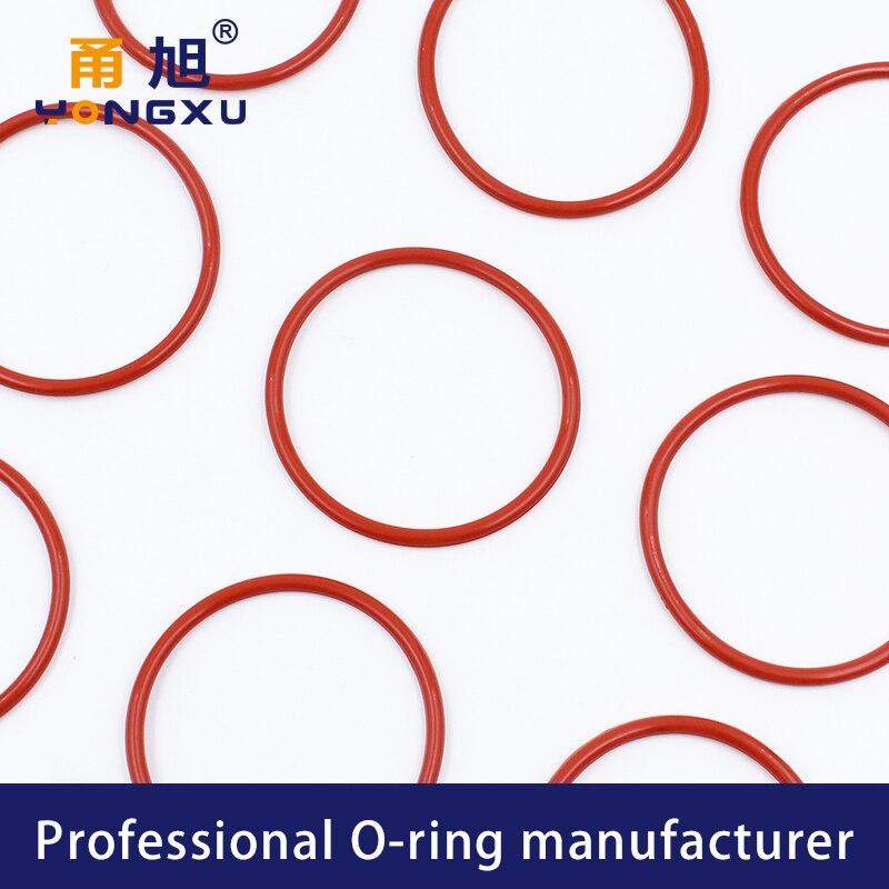 19/mm x 2,5/mm Silikon O Ring Oil Dichtscheiben T/üllen Rot 10/PCS de