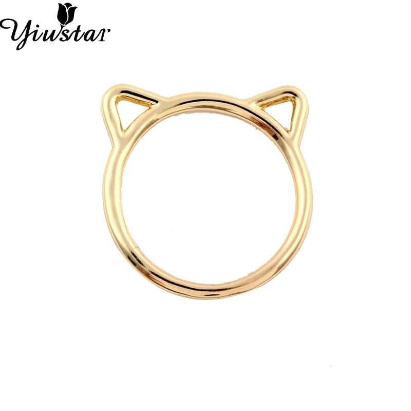ჱYiustar 2017, Новая мода цинковый сплав кошачьими ушками Форма ... 0eb2ccce258