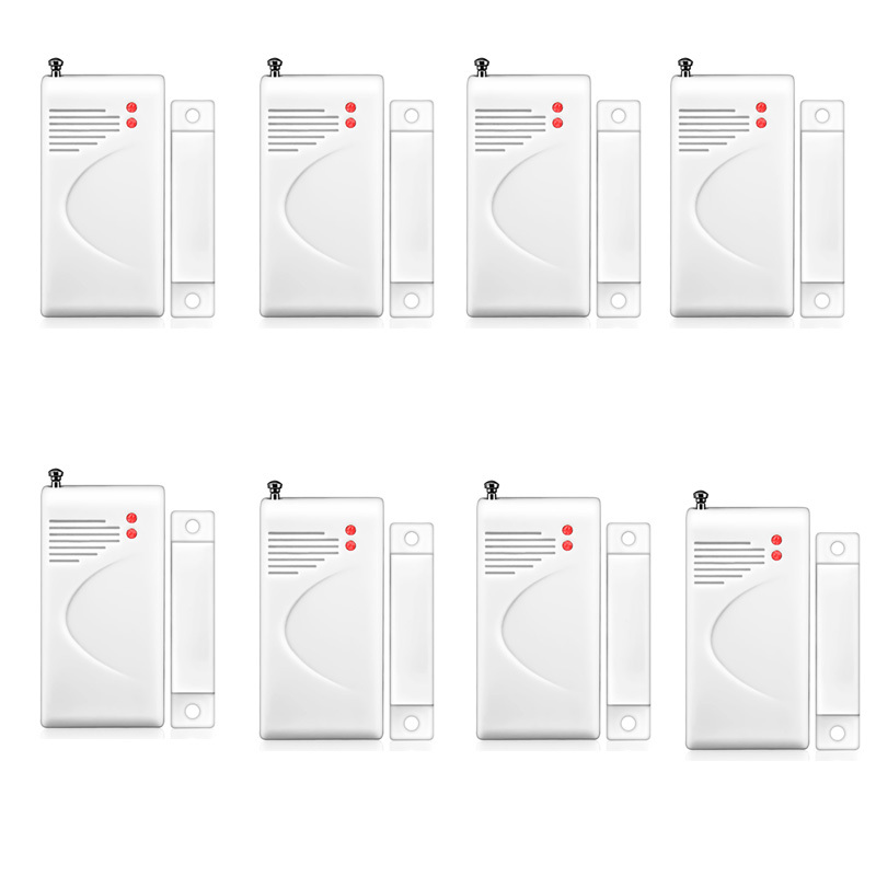 Wireless Door Window Contact Gap Sensor Detector Door Switch 433MHz with Enternal Antenna for Home Security Alarm System 433mhz 5pcs wireless door window contact gap sensor detector 5pcs wireless vibration break breakage glass sensor detector