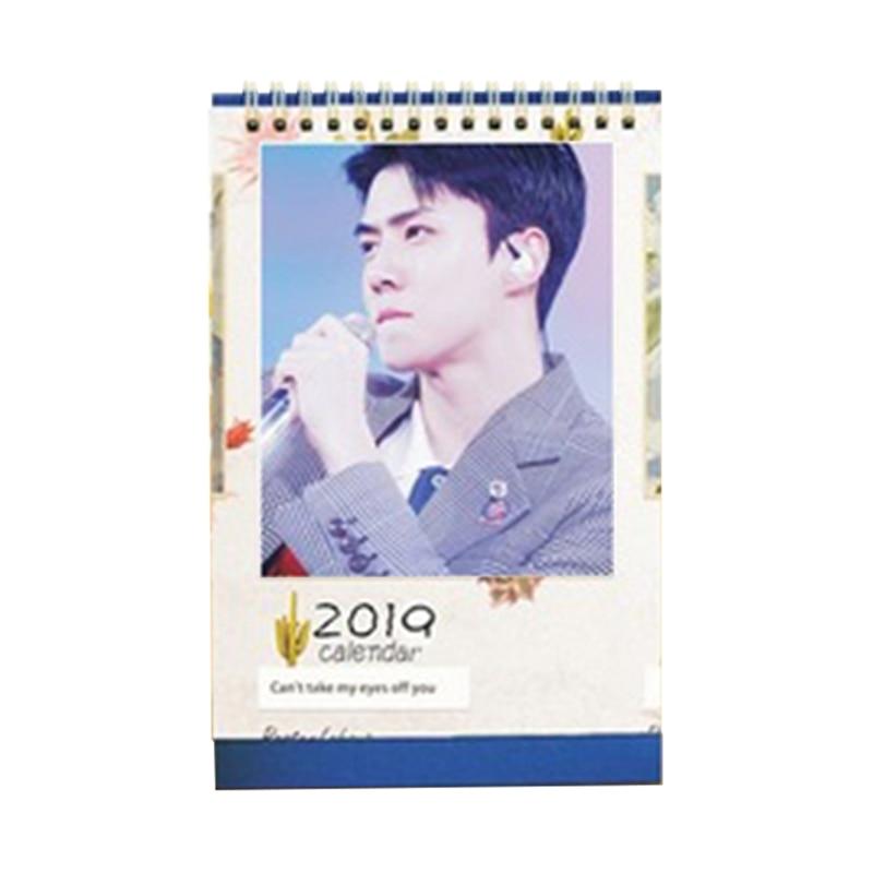 2019 Kpop Exo Mini Bild Foto Schreibtisch Kalender Karte Bücher Fans Geschenk Neue Ein Unbestimmt Neues Erscheinungsbild GewäHrleisten Kalender, Planer Und Karten