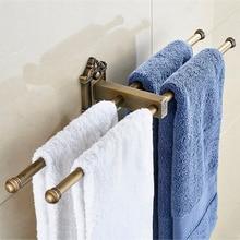 Vidric вешалка для полотенец, 4 рельса, античная латунь, настенная полка, держатель для полотенец, полки для ванной, вешалки для полотенец, аксессуары для ванной комнаты, полотенце Ra