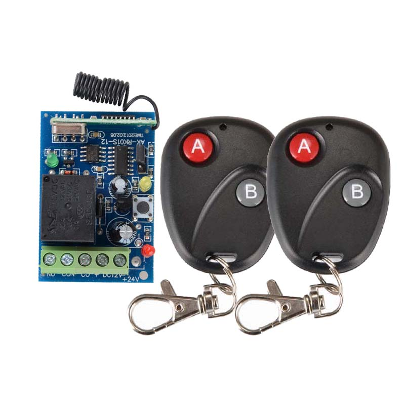 Door Access Control System 12V DC 1CH Wireless Remote Switch 315 433.92 RF Remote Control Light Switch Receiver 2 Transmitter access door control system 12v 1ch wireless remote control switch system transmitter receiver mini size 315 433mhz