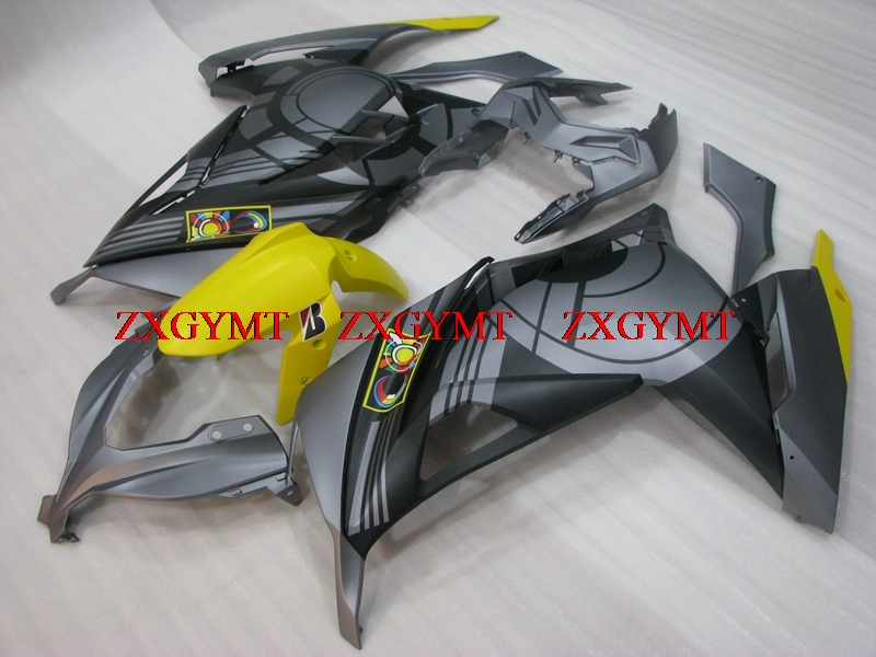 Motorcycle Fairing for Zx300r 2013 - 2017 Full Body Kits EX300 13 14 Matter Black Silver Grey Fairing Kits EX300 2016Motorcycle Fairing for Zx300r 2013 - 2017 Full Body Kits EX300 13 14 Matter Black Silver Grey Fairing Kits EX300 2016