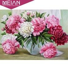 """Meian DIY 5D Алмазная мозаика """"Розовые цветы"""" 5D полная алмазная живопись наборы для вышивки крестом квадратная Алмазная вышивка украшение дома"""