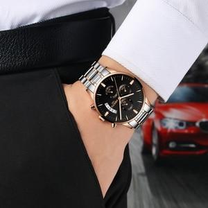 Image 5 - NIBOSI Relogio Masculino Top Marke Luxus Herren Uhren Mode Wasserdichte Auto Datum Quarzuhr Männer Sport Business Männer Uhr