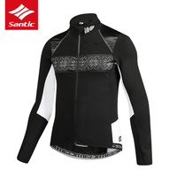 2017 New Santic Men Cycling Jacket Autumn Winter Fleece Thermal MTB Road BIke Bicycle Jacket Long