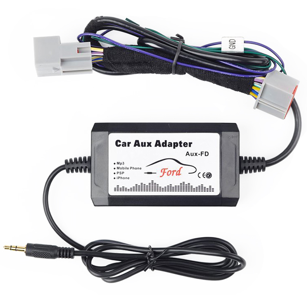 US $31 34 5% OFF|Car Stereo AUX Adapter Auxiliary Input Mp3 Interface for  Ford Fusion Mustang Sport Trac (fits OEM Radio) for Ford F 150-in Car MP4 &