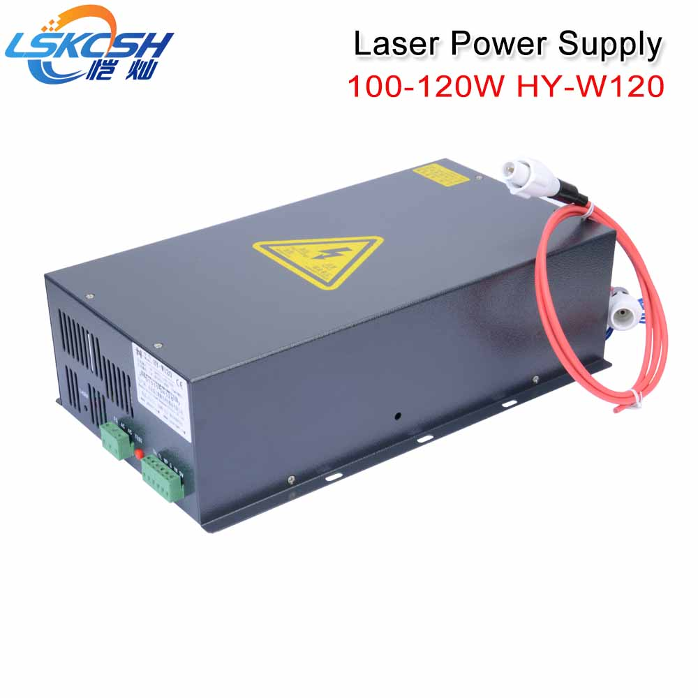 LSKCSH 100 120W Co2 Laser Power Supply For Co2 Laser Engraving Cutting Machines HY W120 T/W Series SP/Yongli/EFR laser tube