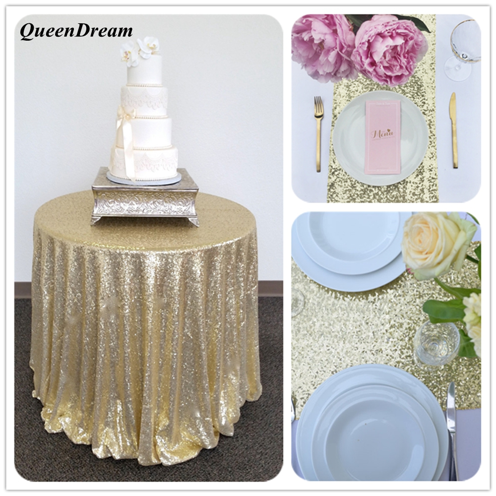 96 inch round tablecloth - 96 Inches Sparkly Light Gold Sequin Glamorous Tablecloth Round Sequin Tablecloth Wedding Cake Tablecloth Event