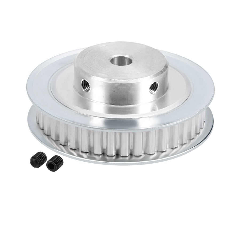 uxcell/® Aluminum GT2 40 Teeth 8mm Bore Timing Belt Pulley Flange Synchronous Wheel for 3D Printer