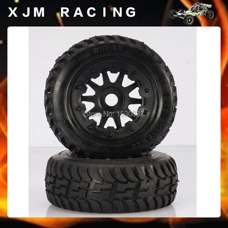 Front off-road Wheel Tire Rim set fit HPI KM Rovan baja 5T 5SC king motor truck free shipping front sand buster tyres tire set with nylon wheel 2pcs for baja 5b hpi km rovan